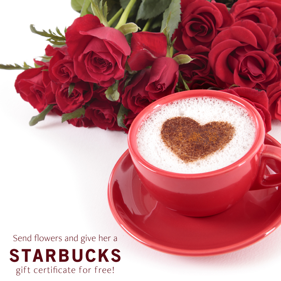 Send a bouquet of flowers and give her a starbucks treat growing send a bouquet of flowers and give her a starbucks treat izmirmasajfo