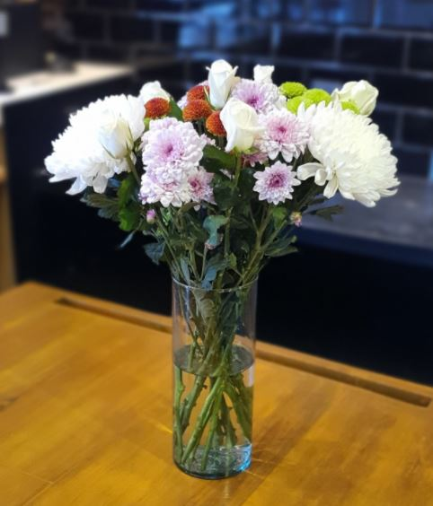 Rustic White Floral Bunch: Afterglow